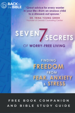 This image is a related visual description of the project '7 Secrets of Worry-free Living - Study Guide' that was created by 'Back To The Bible'.