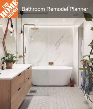 This image is a related visual description of the project 'Bathroom Remodel Planner' that was created by 'HOME DEPOT'.