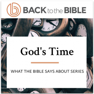 This image is a related visual description of the project 'God's Time' that was created by 'Back To The Bible'.