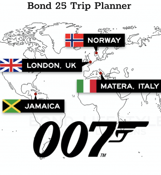 This image is a related visual description of the project 'Bond 25 Location Adventure Planner' that was created by 'Bond 25'.