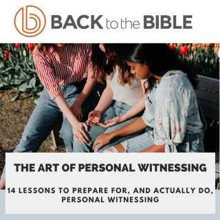 This image is a related visual description of the project 'The Art of Personal Witnessing' that was created by 'Back To The Bible'.