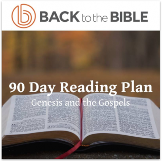 This image is a related visual description of the project '90 Day Reading Plan Challenge' that was created by 'Back To The Bible'.