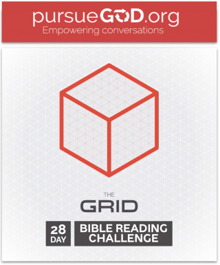 This image is a related visual description of the project 'The Grid: Bible Reading Video Series' that was created by 'Pursue God'.