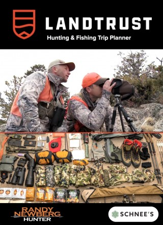 This image is a related visual description of the project 'Base Hunting Gear and Trip Planner' that was created by 'LANDTRUST'.