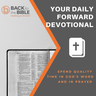 This image is a related visual description of the project 'Your Daily Forward Devotional' that was created by 'Back To The Bible'.