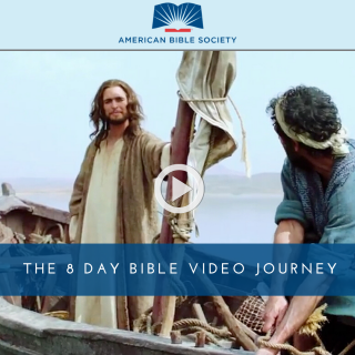 This image is a related visual description of the project 'THE 8 Day BIBLE Video Journey' that was created by 'American Bible Society'.